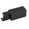 Powerrail 3-fazig, right feed in connector, zwart