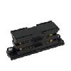 Powerrail 3-fazig, straight connector, zwart