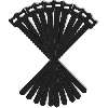 Velcro cable strap 12/200mm black - 10 stuks