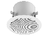 Active 2-way flush-mount ceiling speaker 30W, with integrated DANTE® module