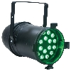 (er) PAR64 Black Highpower 18x3W LED, Dmx I/O