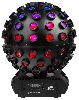 Led Globe RGBW 1,3,9 of 19 DMX-channels + remote