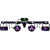 Party bar (2 ledspots, 2 led effects, 1 laser) + tas